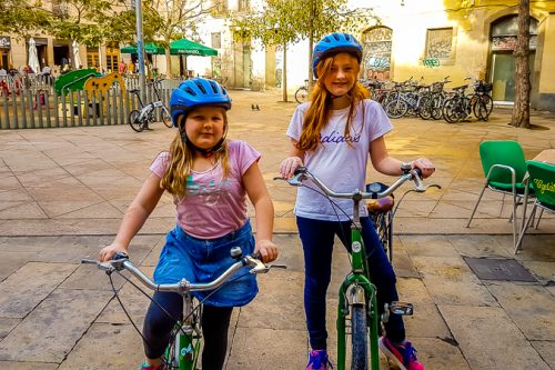 barcelona bike tours for kids children and families