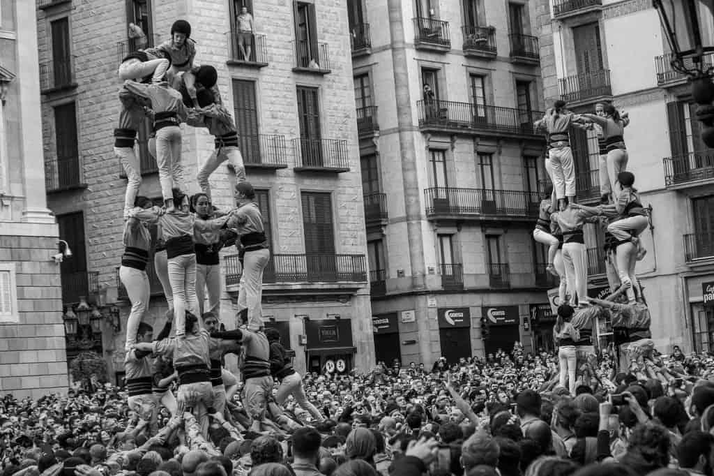 castellers barcelona la merce